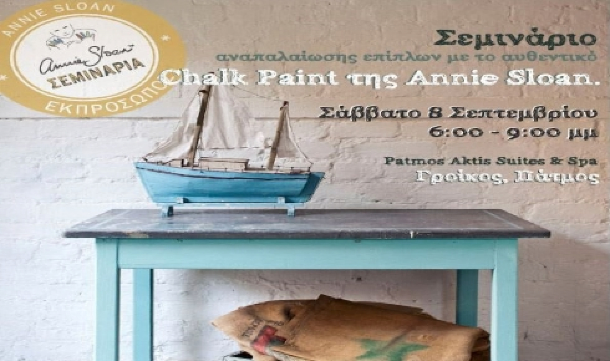 Furniture restoration workshop using the authentic Annie Sloan Chalk Paint