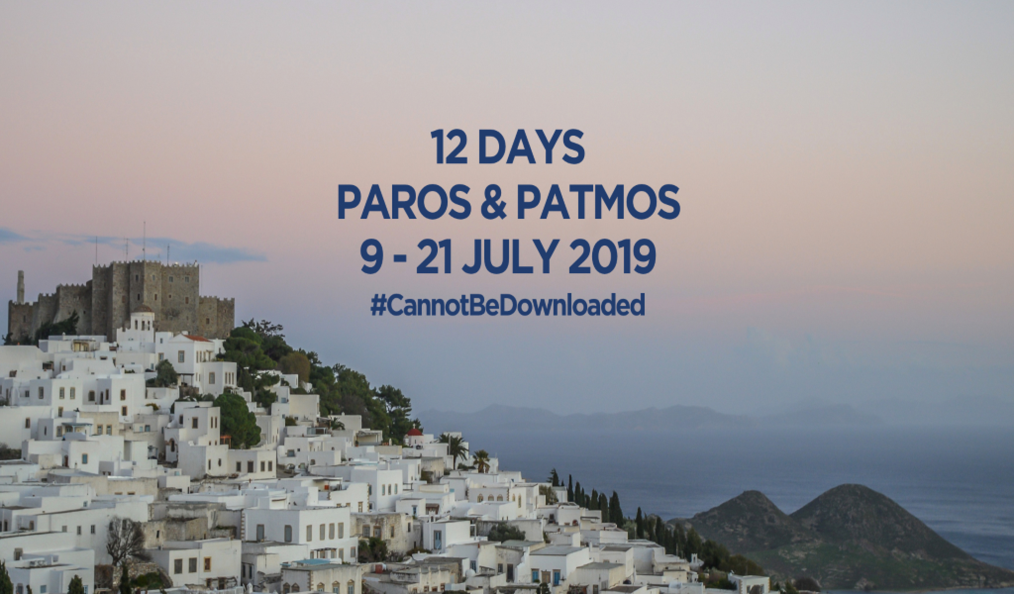 9th AegeanFF in Patmos 16-21, July, 2019!