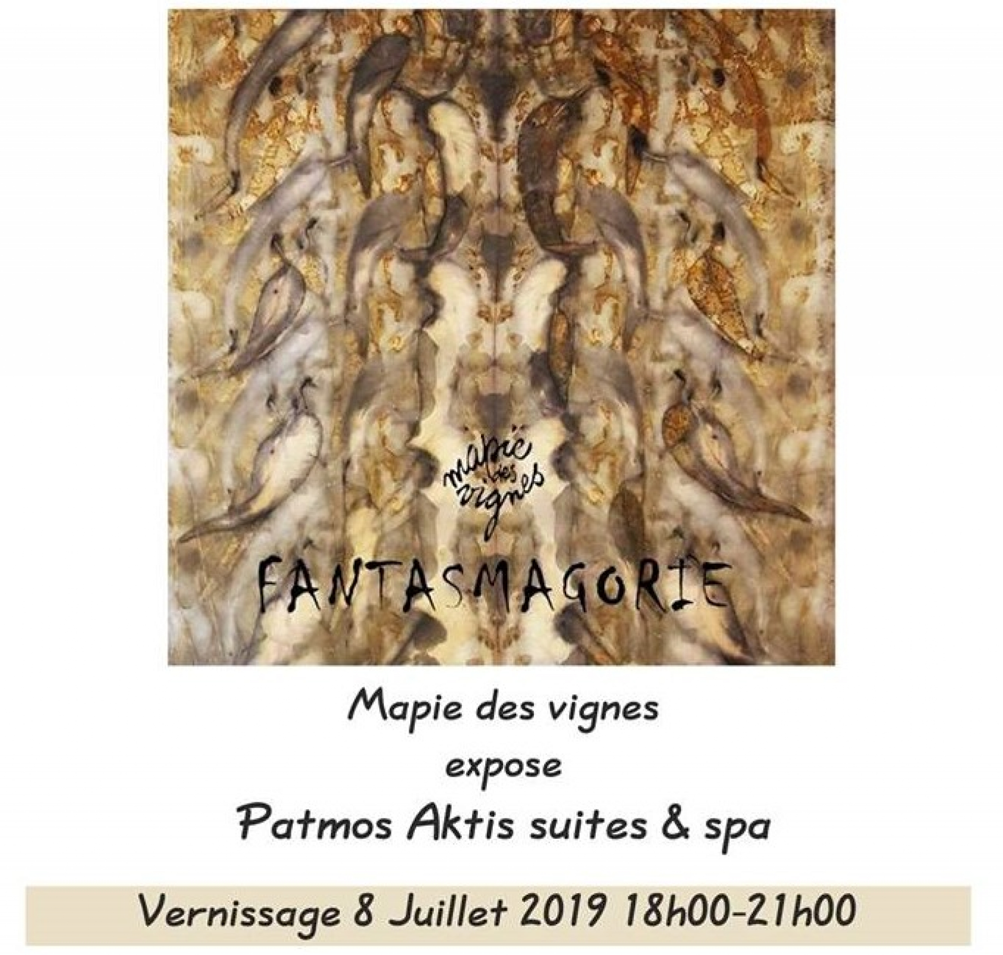 Opening of exhibition Fantasmagorie - Mapie des vignes, in Patmos Aktis Suties & Spa!
